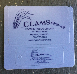 Hyannis Library CLAMS card