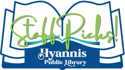 """Hyannis Public Library book logo and text that says """"Staff Picks"""""""