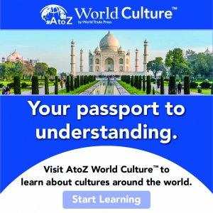 AtoZ World Culture logo, picture of Taj Mahal
