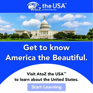 AtoZ The USA logo, picture of the U.S. Capitol Building