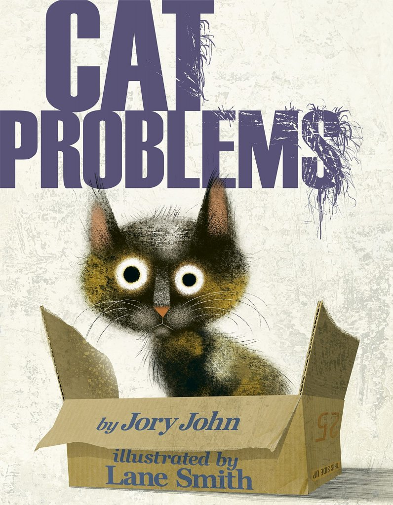"""A book cover with a fuzzy black cat, titled """"Cat Problems."""""""
