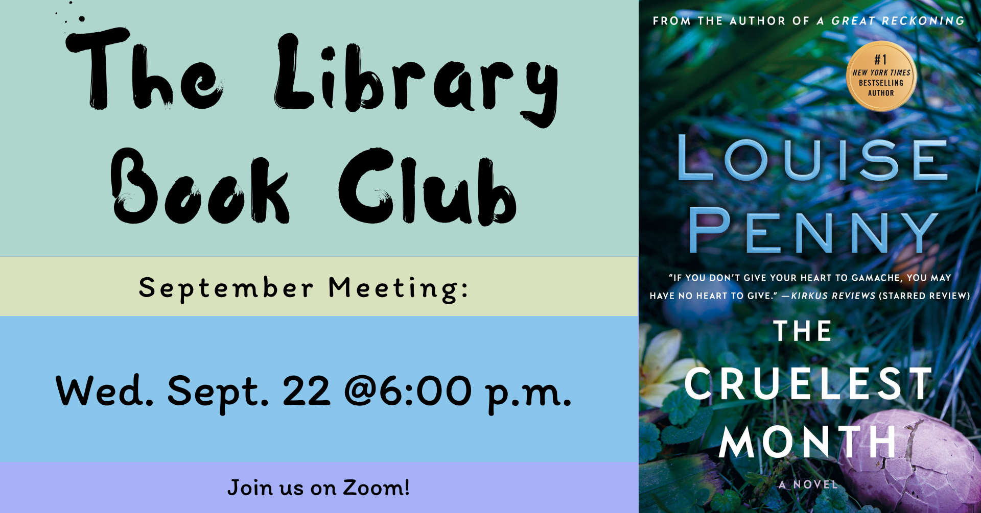 The Library Book Club banner