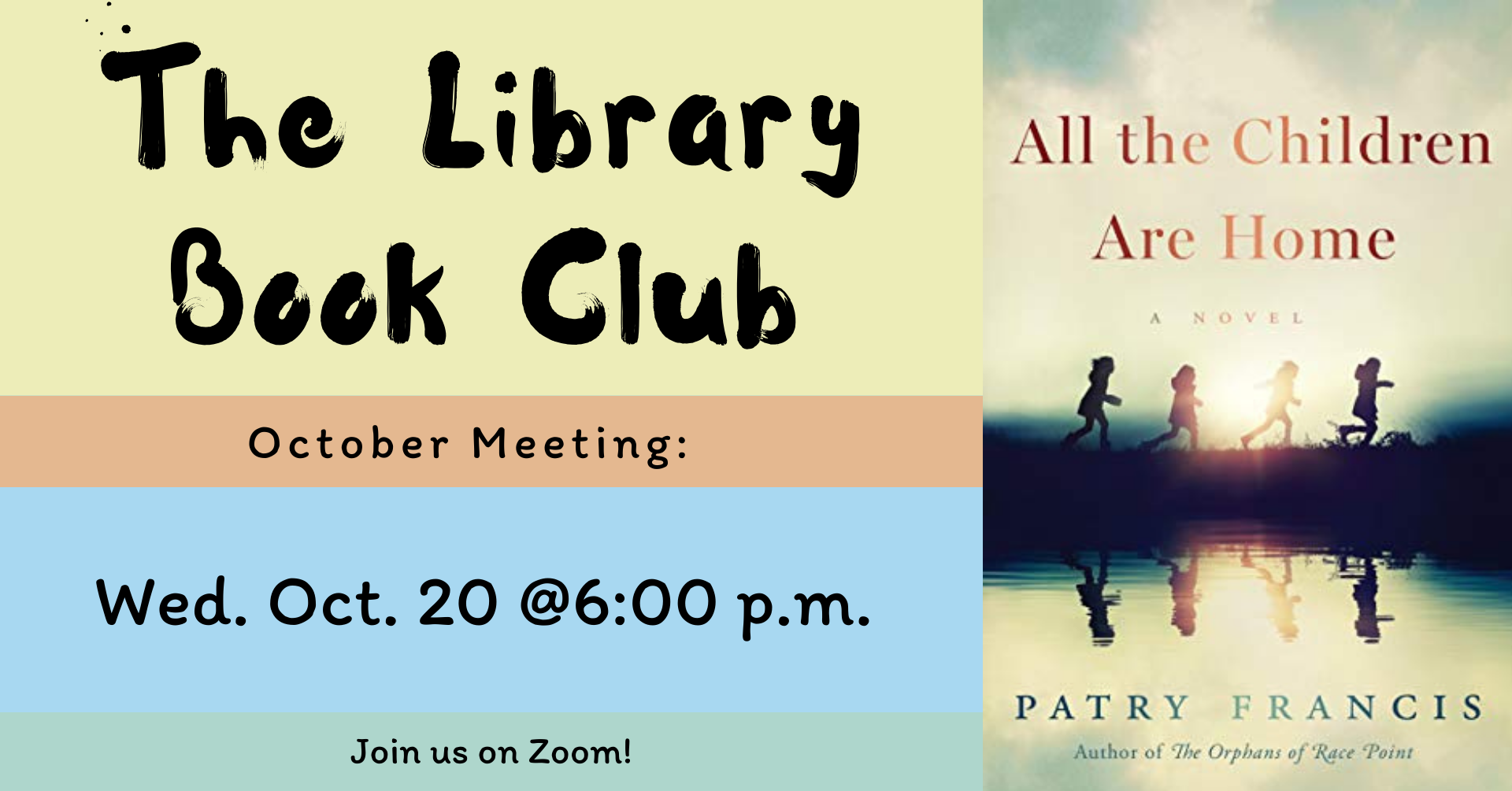 Library Book Club October Banner